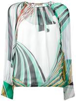 Emilio Pucci geometric print blouse - women - Silk - 44