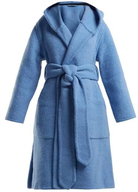 Burberry Dunbridge Alpaca And Wool Blend Coat - Womens - Light Blue