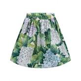 Dolce & Gabbana Dolce & GabbanaGirls Green Hydrangea Print Skirt