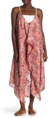Pool' POOL TO PARTY Chevron Print Maxi Cover-Up