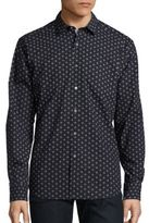 Bugatchi Cotton Long Sleeve Printed Shirt