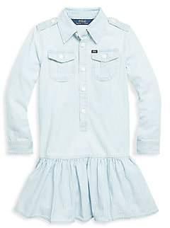 Ralph Lauren Little Girl's & Girl's Chambray Flare Shirtdress
