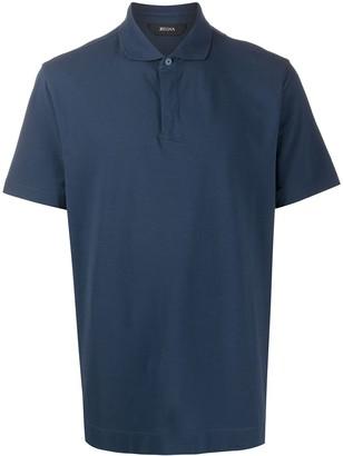 Ermenegildo Zegna Spread-Collar Polo Shirt