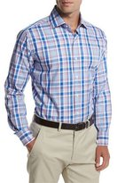 Peter Millar Holiday Plaid Sport Shirt, Pier Blue