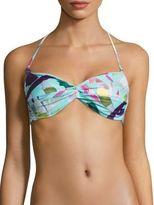 Mara Hoffman Marimba Twist Front Convertible Bikini Top
