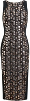Antonio Berardi Geometric Jacquard Wool-Blend Dress