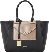 Dune Deanne faux leather winged tote