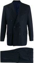 Kiton double breasted stripe suit
