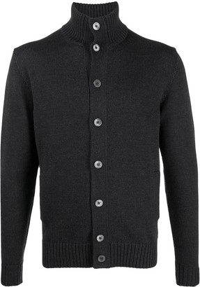 Zanone Ribbed Edge Button-Up Cardigan
