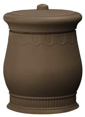 Good Ideas Savannah Outdoor Decorative 30 Gallon Storage Waste Basket Urn, Oak