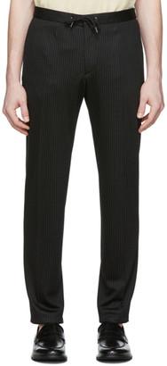 BOSS Black Wool Pinstripe Trousers