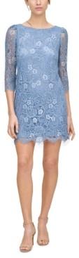 Jessica Howard Petite Two-Tone Lace Shift Dress