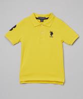 U.S. Polo Assn. Yellow & Navy Polo - Boys