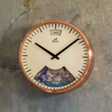 Graham and Green Mechanimated Copper Weather Clock