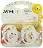 Philips Avent Twin Pack Classic Soothers with Animal Characters - 0 to 6 Months