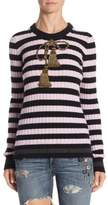 Dolce & Gabbana Striped Wool & Cashmere Pullover
