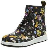 Dr. Martens Women's Newton Df Black Darcy Floral Fine Canvas Boots,39 EU