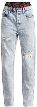 Alexander Wang Rival Boxer Layered Distressed Jeans