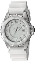 Momentum Women's 'Narwhal' Quartz Stainless Steel and Rubber Diving Watch, Color:White (Model: 1M-DV63W11W)