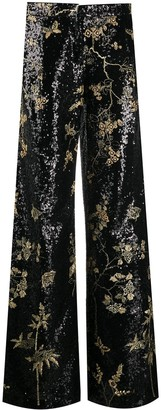 Giambattista Valli Sequin-Embellished Flared Trousers