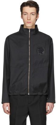 Random Identities Black Eyelet Jersey Zip-Up Jacket