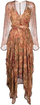 Mes Demoiselles Paisley Embroidered Midi Dress
