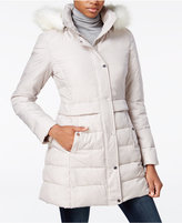 Bar III Faux-Fur-Trim Hooded Puffer Coat, Only at Macy's