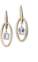 "Joan Hornig Matisse"" White Topaz Drop Earrings"