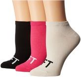 Kate Spade 3-Pack No Show Women's Crew Cut Socks Shoes
