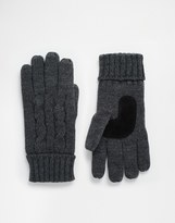 Totes Cable Gloves With Thinsulate - Grey