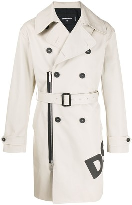 DSQUARED2 Belted Trench Coat
