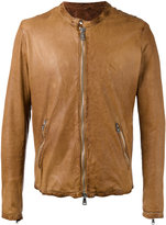 Giorgio Brato zipped leather jacket - men - Cotton/Leather/Nylon - 46