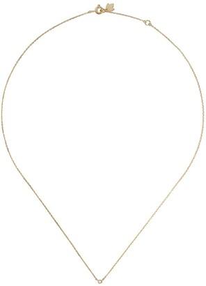 Feidt Paris 18kt Yellow Gold Diamond Bezel Set Necklace