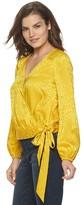 JLO by Jennifer Lopez Women's Wrap Front Blouse