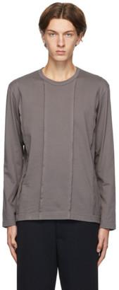 Comme des Garçons Homme Deux Grey Panelled Long Sleeve T-Shirt