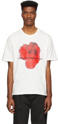 Stolen Girlfriends Club SSENSE Exclusive White Red Rose Razor T-Shirt