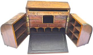 One Kings Lane Vintage Antique Portable Traveling Folding Desk - Vermilion Designs