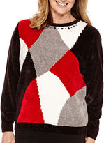 Alfred Dunner Madrid Long-Sleeve Colorblock Chenille Sweater