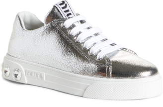 Miu Miu Crystal Detail Skate Sneaker
