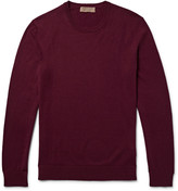 Burberry - Elbow-patch Cotton And Cashmere-blend Sweater