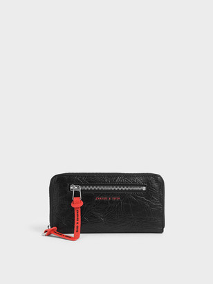 Charles & Keith Mini Wrinkled Effect Long Wallet