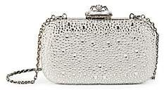 Alexander McQueen Women's Spider Jewelled Leather Box Clutch