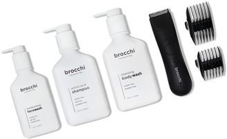 Sebastian Brocchi Brocchi Waterproof Usb Trimmer, Face Wash, Body Wash, & Shampoo Bundle