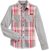 Sean John Woven Plaid Shirt, Toddler Boys (2T-5T) & Little Boys (2-7)