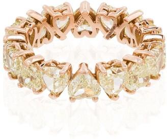 Shay 18kt Rose Gold Heart-Shaped Diamond Ring