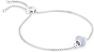 Libbie Sterling Silver Gemstone Charm Bracelet - Blue Lace Agate