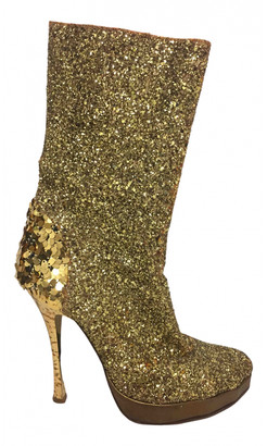 Vivienne Westwood Gold Glitter Boots