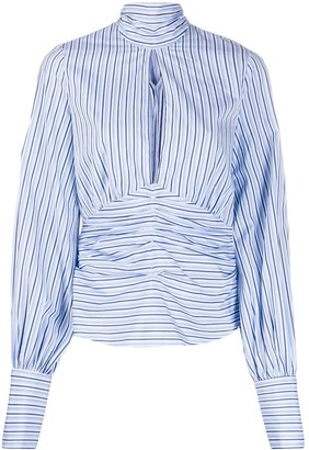 Victoria Victoria Beckham Split Front Striped Top