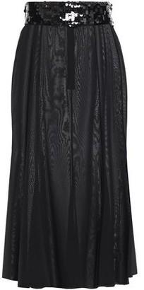 Dolce & Gabbana Sequin-trimmed Silk-blend Moire Skirt