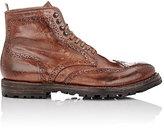 Officine Creative Men's Burnished Anatomia Wingtip Boots-BROWN
